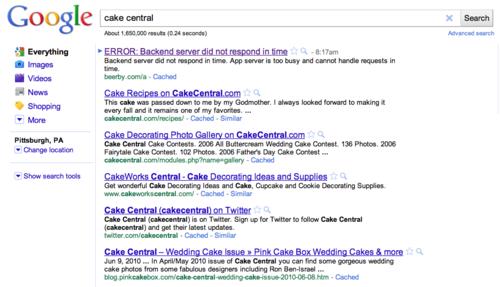 Odd Google Result